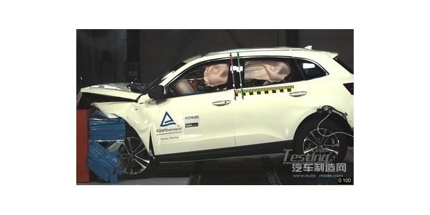 宝沃BX7在正面侧角碰撞测试中表现出色