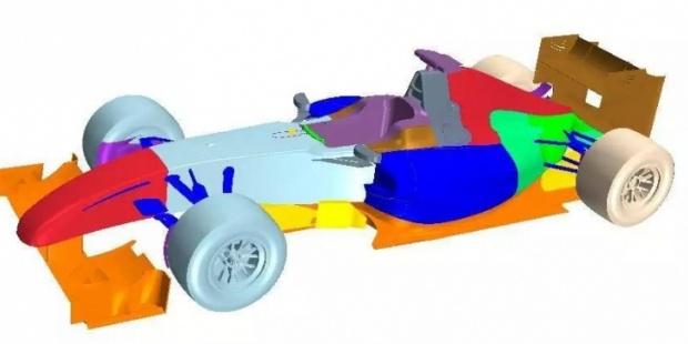 F1赛车不同俯仰角度下的空气动力学特性研究