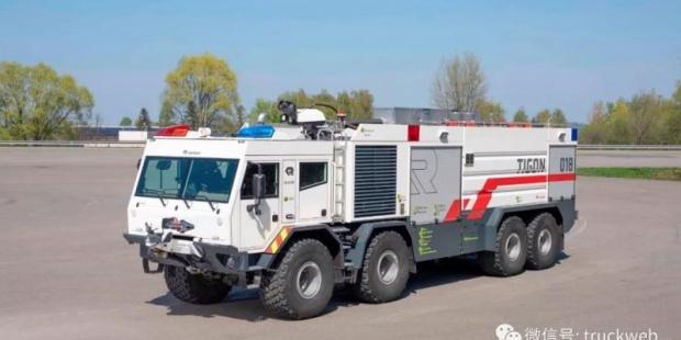 卢森堡亚发布全新Tigon消防车 采用当太脱拉8x8底盘与沃尔沃700马力发动机 追求极致的