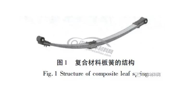 轻型客车复合材料板簧模态的预测和分析