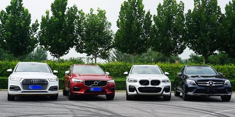 XC60、宝马X3、奔驰GLC、奥迪Q5L性能测试对比,谁技高一筹?