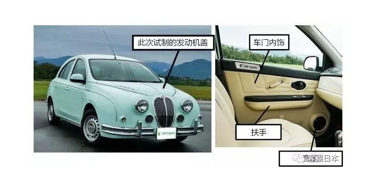 日本产综研试验采用木质素材料制作汽车内外部件