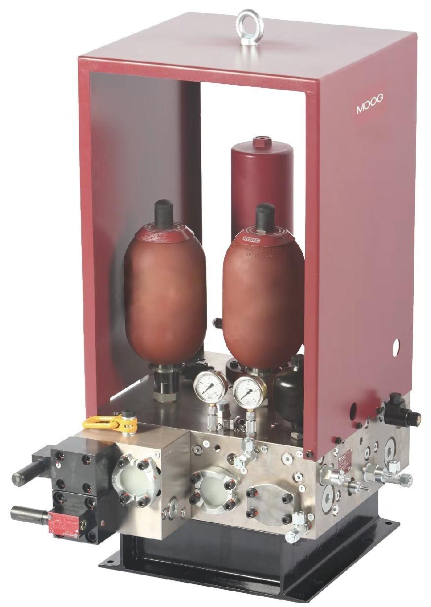 穆格测试系统提供关断/低压/高压隔离控制:大流量液压图片