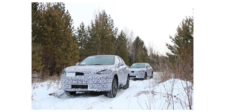 绿驰汽车首款量产SUV高寒试验照曝光