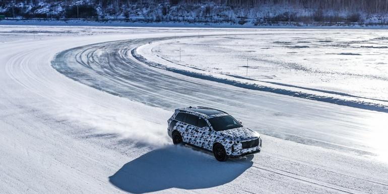 理想智造ONE工程试制车的冬季测试情况