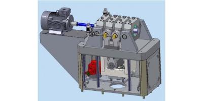 带静态轴向和径向载荷的轴承疲劳耐久试验台