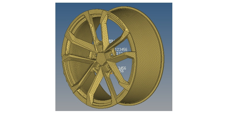 基于不同材料的汽车车轮的模态分析